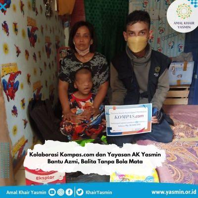 Yayasan Amal Khair Yasmin dan Kompas.com Bantu Balita Tanpa Bola Mata dan Ginjal